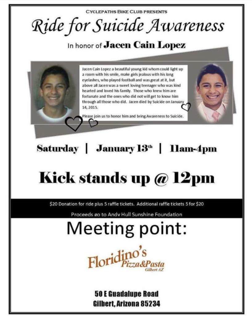 Jacen Lopez Bike Fundraiser