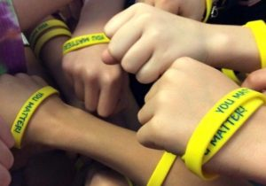 Kids with wristbands